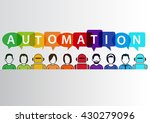 process automation concept as... | Shutterstock .eps vector #430279096