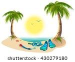 summer holidays at sea. palm... | Shutterstock .eps vector #430279180
