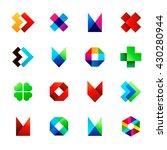big set of modern icon design... | Shutterstock .eps vector #430280944