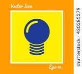 idea bulb icon. eps 10. | Shutterstock .eps vector #430285279