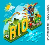 brazil rio summer games... | Shutterstock . vector #430292008