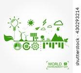 world environment day greeting... | Shutterstock .eps vector #430293214