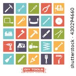 do it yourself tools icon set.... | Shutterstock .eps vector #430294660