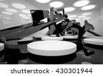 abstract dynamic interior with... | Shutterstock . vector #430301944
