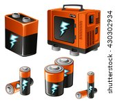 the batteries and generator.... | Shutterstock .eps vector #430302934