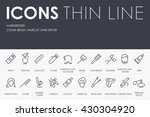hairdresser thin line icons | Shutterstock .eps vector #430304920