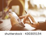 accounting calculating... | Shutterstock . vector #430305154