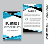 vector brochure flyer design... | Shutterstock .eps vector #430306030