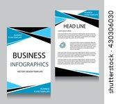 vector brochure flyer design... | Shutterstock .eps vector #430306030