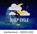sleep cycle human sleeping... | Shutterstock . vector #430311100