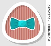 single bow colorful icon