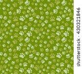 dog paw print seamless  anilams ...   Shutterstock .eps vector #430321846