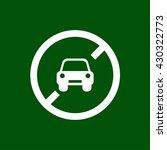 no car icon. car forbidden... | Shutterstock .eps vector #430322773