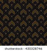 art deco seamless vintage... | Shutterstock .eps vector #430328746