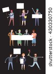 demonstration  protest concept... | Shutterstock .eps vector #430330750