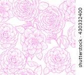 flowers camellia on white... | Shutterstock .eps vector #430332400