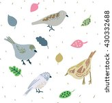 birds and leaves | Shutterstock .eps vector #430332688