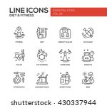 set of modern vector plain line ... | Shutterstock .eps vector #430337944