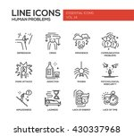 set of modern vector simple... | Shutterstock .eps vector #430337968