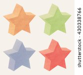 paper texture 3d star recycled... | Shutterstock . vector #430338766