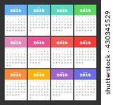 russian calendar 2016 | Shutterstock .eps vector #430341529