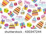 happy birthday vector color... | Shutterstock .eps vector #430347244