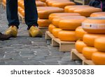 Stacks Of Cheese In The Market...
