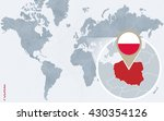 abstract blue world map with...   Shutterstock .eps vector #430354126