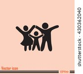 happy family icon in simple... | Shutterstock .eps vector #430362040