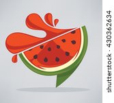 summer watermelon fresh juice...   Shutterstock .eps vector #430362634