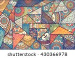 patchwork pattern. vintage... | Shutterstock .eps vector #430366978