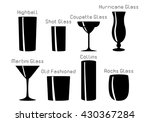 silhouette. set of cocktail... | Shutterstock .eps vector #430367284