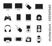 devices icons set. vector... | Shutterstock .eps vector #430369660