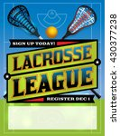 an illustration for a lacrosse... | Shutterstock .eps vector #430377238