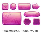 pink glossy game assets set ...