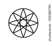 icon emblem flower  vector icon   Shutterstock .eps vector #430380790