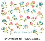 vector floral collection with...