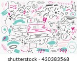 set of hand drawn vector... | Shutterstock .eps vector #430383568