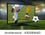 watching smart tv translation... | Shutterstock . vector #430384660