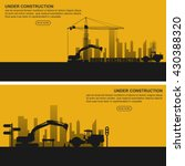 under construction banners set .... | Shutterstock .eps vector #430388320