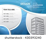 abstract blue curve template ... | Shutterstock .eps vector #430393240