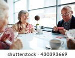 playing cards in cafe | Shutterstock . vector #430393669