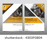 yellow annual report brochure... | Shutterstock .eps vector #430393804