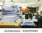 paper documents stacked in... | Shutterstock . vector #430399684
