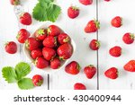 fresh strawberries in white...   Shutterstock . vector #430400944