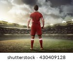 asian football player standing... | Shutterstock . vector #430409128