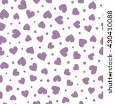 seamless hearts and dots... | Shutterstock .eps vector #430410088