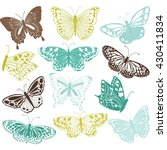 butterfly collections.butterfly ... | Shutterstock .eps vector #430411834