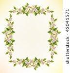 floral frame | Shutterstock .eps vector #43041571