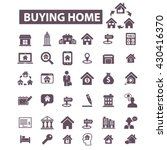 buying home icons  | Shutterstock .eps vector #430416370